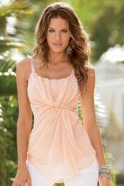 Dressy blush blouse