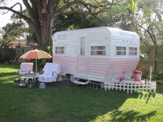 """Vintage camper,trailer.......never have to hear football games again, I just go to """"Grace Cottage"""""""