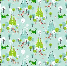 Cute fabric for curtains, pillows, sheets, or changing pad covers.