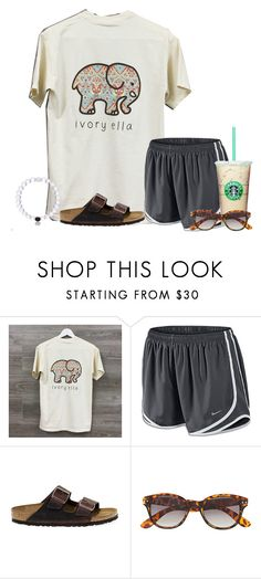 """Really want this shirt!!! So cute"" by flroasburn ❤ liked on Polyvore featuring NIKE, Birkenstock and H&M"