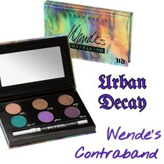 Urban Decay Wende's Contraband Eyeshadow Palette A versatile selection that ranges from neutral to bright. Gives maximum versatility for as many looks as possible! Also includes a travel-size 24/7 glide-on eye pencil in Zero (black). Eyeshadows: Trick (light metallic pinky-copper shimmer with tonal micro-sparkle), Smog (deep coppery bronze shimmer), Reign (rich brown satin), Deep End (bright teal), Flash (bright iridescent purple), & Tornado (vibrant deep purple shimmer). BNIB. Never used or…
