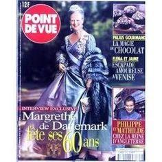 Point De Vue N° 2699 Du 12/04/2000 - Palais Gourmand - La Magie Du Chocolat - Elena Et Jaime A Venise - Margrethe De Danemark - Philippe Et Mathilde Chez La Reine D'angelterre.