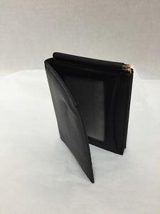 Mens-Leather-Bifold-Wallet-Black-Money-Holder-Change-Pocket-New-no-tags