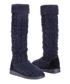 Mukluks Shelly Tall Slipper Boots Black Mari size womens 8 New