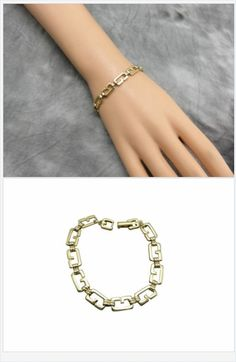 Add a bit of sass to your wrist with this attractive Givenchy goldtone logo bracelet. #stuff4uand4u