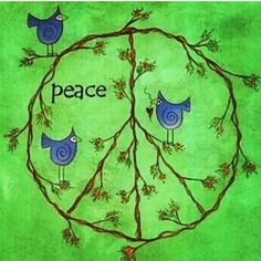 ☮ American Hippie Art ~ Peace Sign and Birds Paz Hippie, Hippie Peace, Hippie Love, Hippie Art, Hippie Things, Happy Hippie, Hippie Chick, Peace On Earth, World Peace