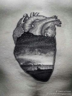 Heart tattoo by Dylan Kwok