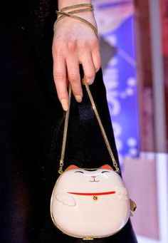 The Terrier and Lobster: Kate Spade Fall 2014 Bags: Chinese Takeout Boxes, Maneki-Neko, Trains, and Fans