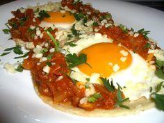 Eggs  rancheros red love sauce