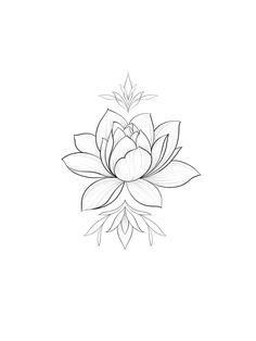 Small Lotus Tattoo, Lotus Mandala Tattoo, Lotus Tattoo Design, Lotus Design, Flower Tattoo Drawings, Flower Tattoo Designs, Tattoo Sketches, Flower Tattoos, Dope Tattoos