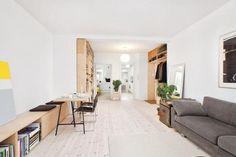 Bolig til salgs Plywood House, Plywood Kitchen, Living Room Interior, Home Living Room, Living Room Designs, Plywood Interior, Multipurpose Room, Decoration Inspiration, Living Room Inspiration
