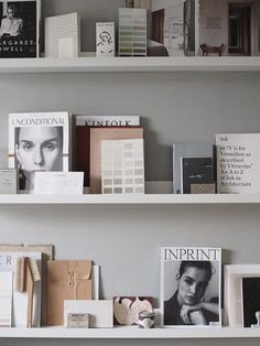 Gallery wall idea with picture ledges. A cosy, grey home office for a freelance creative - my makeover reveal Scandinavian Interior Design, Gray Interior, Nordic Design, Scandinavian Home, Office Interior Design, Office Interiors, Interior Ideas, Gray Home Offices, Mesh Office Chair