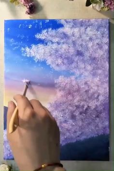 Visit for more tree acrylic art inspirations. Diy Tree Painting, Canvas Painting Tutorials, Art Painting Gallery, Painting & Drawing, Pour Painting, Cool Art Drawings, Art Sketches, Aesthetic Painting, Acrylic Art