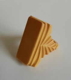 Vintage Art Deco Butterscotch Bakelite Ring by RevampedVintage1973, $125.00