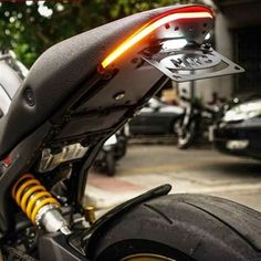 Ducati Monster 696 / 796 / 1100 Tail Tidy Fender Eliminator Kit by NRC with bright LEDs for maximum visibility. Motorcycle Camping, Chopper Motorcycle, Motorcycle Style, Camping Gear, Motorcycle Garage, Scrambler Motorcycle, Ducati Scrambler, Women Motorcycle, Honda Motorcycles