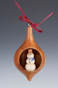 Snowman Window Collectible Ornament
