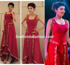 Pranitha Subhash in shilpa reddy dress at SIIMA 2015 2015 Fashion Trends, Trendy Fashion, Indian Gowns, Indian Wear, Kajal Agarwal Saree, Choli Dress, Wedding Saree Blouse, Indian Bridal Outfits, Beautiful Bollywood Actress