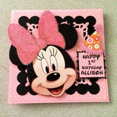 6X6 Card, Minnie Mouse, Recycled INVITE