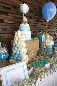 Hot Air Balloon Baptism Party Ideas | Photo 2 of 14 | Catch My Party
