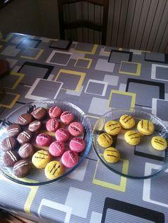 Macaron citron framboise chocolat