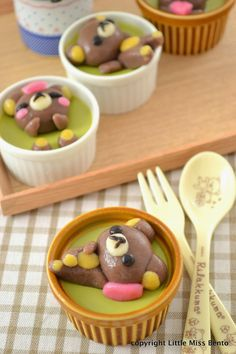 Rilakkuma Matcha Pudding | Little Miss Bento