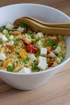 Couscoussalade met sinaasappel - Favoriete Recepten