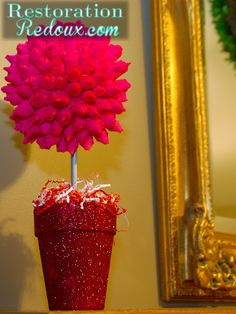 Valentines Topiary Tree Tutorial