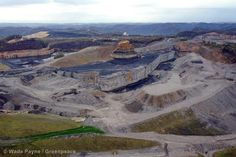 Greenpeace March 2012 Photo of the Month - what remains of Kayford Mountain in West Virginia after surface mining.