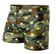9b3385cbd6 A Men's Camo Star All Over Square Leg Swimsuit where performance meets  fashion. Constructed with Durafast Lite, the training suit is lighter  weight and ...