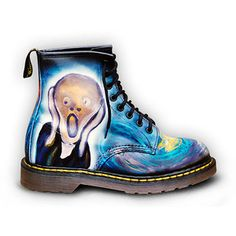 """Dr Martens - """"The Scream"""" #Boots, #Painting, #Blue"""