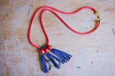 Beaded Tassel Necklace DIY