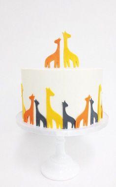 Modern giraffe cake by @sweet_deetails
