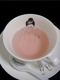 This skinny dipping-themed cup and saucer by Esther Horchner cracks me up.
