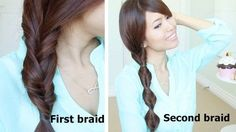Easy Hairstyles For Long Hair Regarding Quick Amp Easy Faux Braid Hairstyles For Medium Long Hair Tutorial Easy Hairstyles For Medium Hair, Cool Braid Hairstyles, Medium Long Hair, Braids For Long Hair, Everyday Hairstyles, Medium Hair Styles, Girl Hairstyles, Curly Hair Styles, Summer Hairstyles