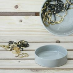 * EVE * ceramic little dish in gray and clear glossy glaze by ONE and MANY