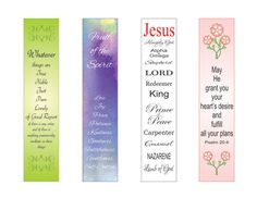 BOOKMARKS ~ Printable Christian Scripture Bookmarks - Instant Download - Christian, Reading, Group 7 by LoveLineSigns on Etsy