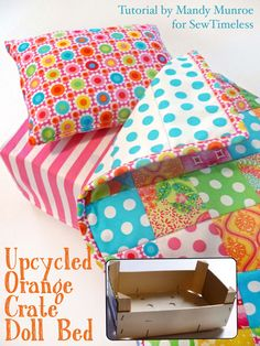 upcycled orange crate doll bed tutorial