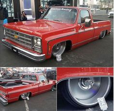 "Hot Wheels - Yeah @max_built bad ass squarebody C10 ""Dimples"" looking sweet at #sema2016 #chevrolet #gmc #c10 #carporn #hotrod #streetrod #streetmachine #streettruck #airsuspension #bagged #layframe #lowfastfamous"