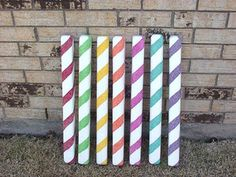 Candy Sticks Party Decorations 7 Mixed Color Peppermint Gingerbread / Christmas Candy Sticks Part Gingerbread Christmas Decor, Candy Land Christmas, Gingerbread Decorations, Candy Christmas Decorations, Christmas Crafts, Christmas Ideas, Gingerbread Houses, Outdoor Christmas, Candy Land Decorations