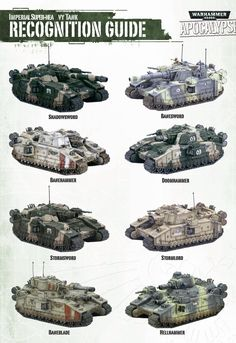 Baneblade variants for reference purposes.