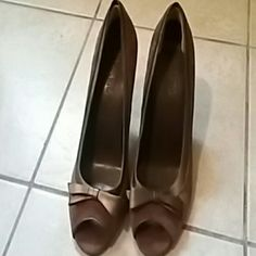Franco fortini Brown leather heels Shoes Heels