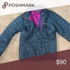 Patagonia Nano Puff Pullover Hardly worn, maybe 3-4 times. Just like new! Patagonia Jackets & Coats