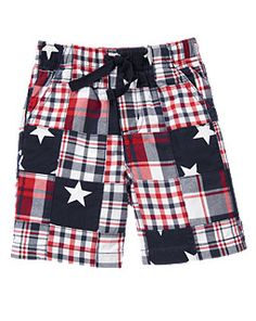 Stars & Plaid Patchwork Short for the 4th
