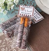 Personalized Bridal Chocolate Covered Pretzel