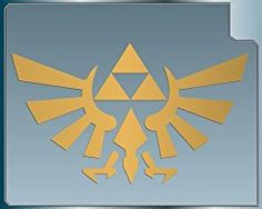 Aufkleber TRIFORCE LOGO #1 from the Legend of Zelda GOLD vinyl decal sticker 101 mm