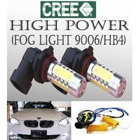 Cheap 1 set 9006 HB4 Fog CREE LED Hi Power Projector bulbs w/ canbus cable…