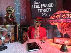 Thread for Haunted Hotel party incorporating Hollywood Tower Hotel (Disney Tower of Terror ride), Twilight Zone, The Shining's Overlookd Hotel and Psycho's Bates Motel