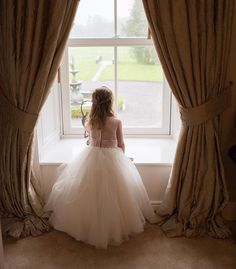 Is time to go to the church yet?the flower girl was so excited and we caught this photo just before leaving for the church. She couldn't wait to walk up the aisle photo info: www. Village Photos, Wedding Photos, Wedding Day, Top Wedding Photographers, Window Curtains, Dublin, Nikon, Ireland, Awards