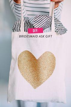 DIY bridesmaid ask gift