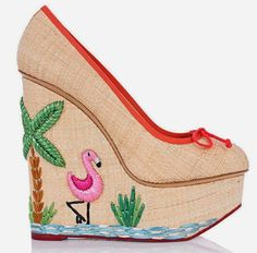 The Terrier and Lobster: Charlotte Olympia Flamingo Capsule Collection to Celebrate the Opening of Their Miami Boutique